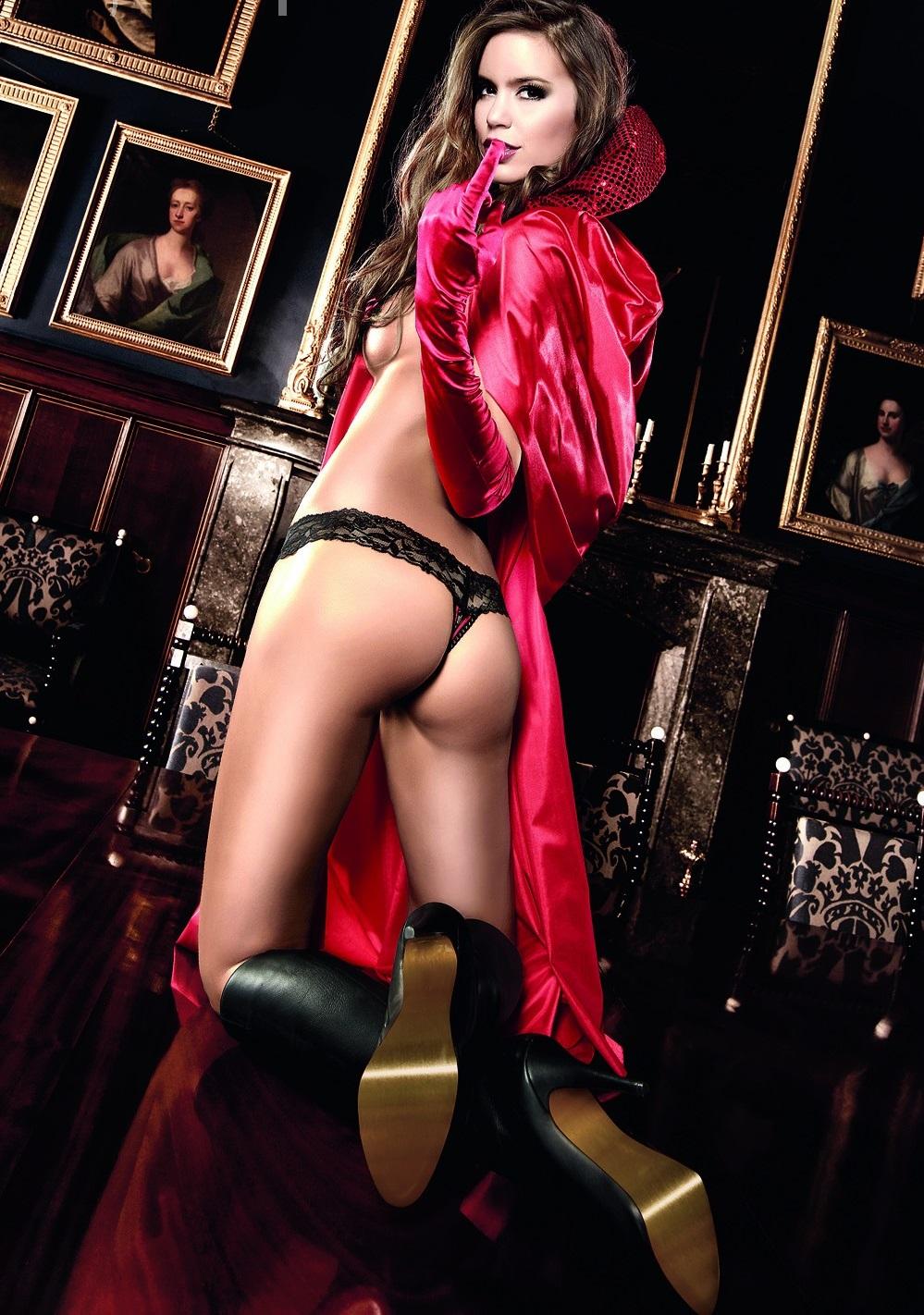 Черные стринги с красными ленточками 4 фотография