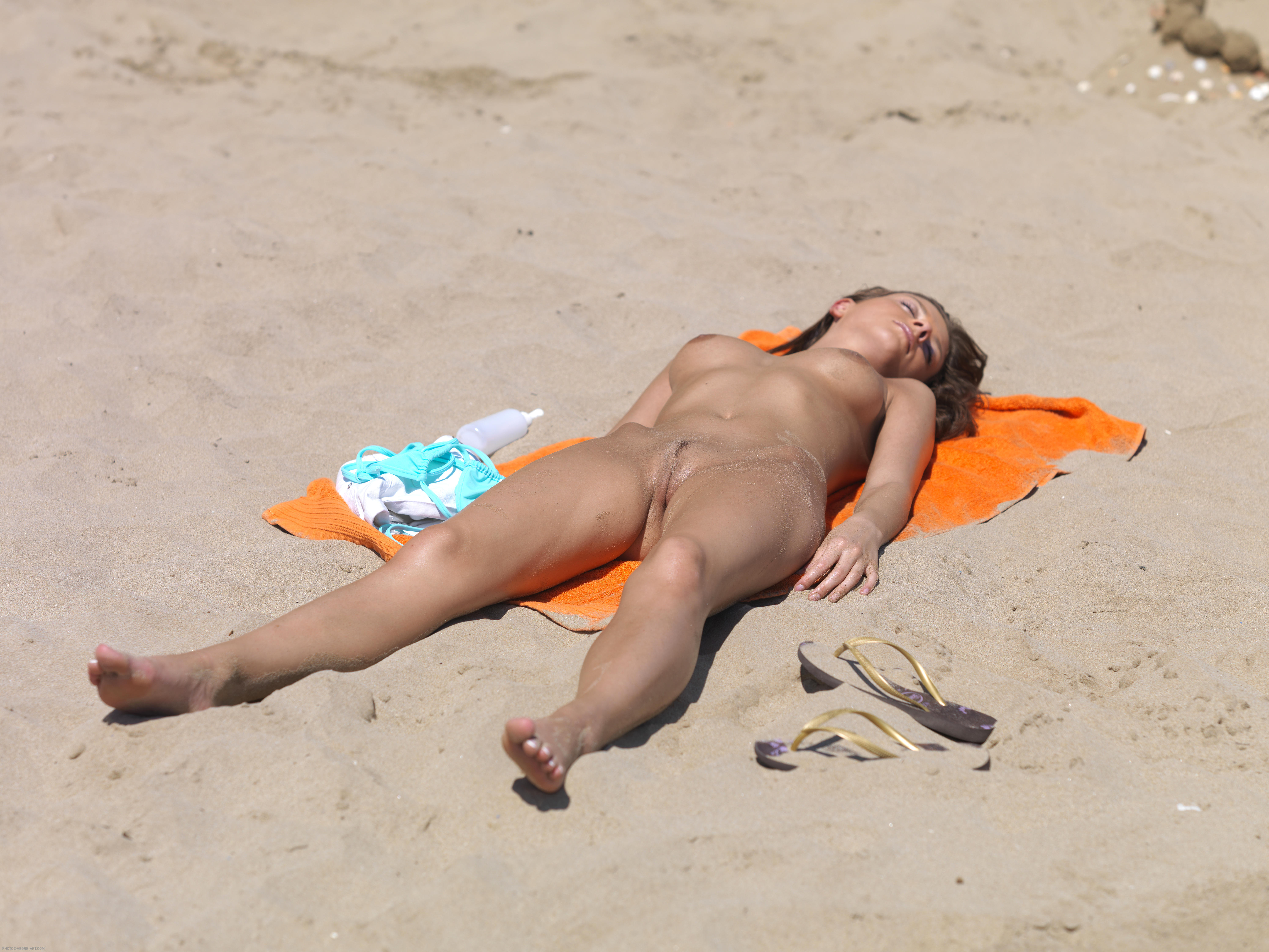 Angela Anderson Visits Haulover Nude Beach on Vimeo
