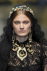 Констанс Яблонски, фото 271. Constance Jablonski Dolce & Gabbana F/W 12.13 Milan, foto 271