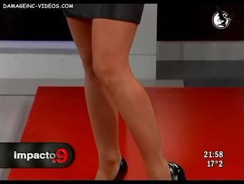 Hot legs in miniskirt