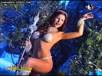 Argentina Celebrity Florencia Peña as showgirl damageinc