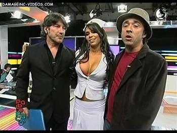 Sabrina Ravelli con Pablo y Pachu