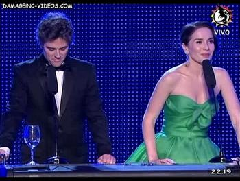 Uruguay actress Natalia Oreiro green dress
