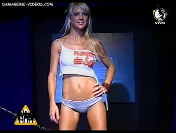 Sexy Model Laura Canteros on the catwalk