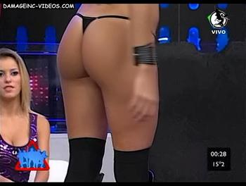 Argentina Model Soledad CEscato perfect ass in black g-string