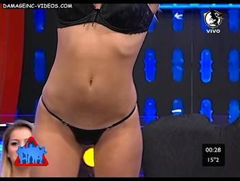 Soledad Cescato en tanga negra