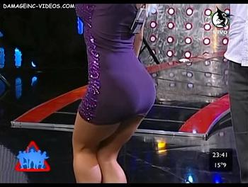 Argentina Celebrity Mariana Diarco perfect ass in miniskirt