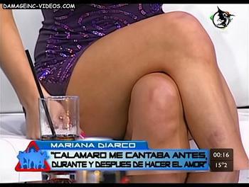 Mariana Diarco croosed legs