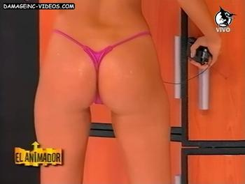 perfect ass blonde in g-string