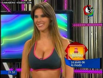 Laura Gaffuri busty babe in tv