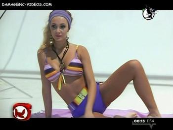 Melina Pitra bikini backstage