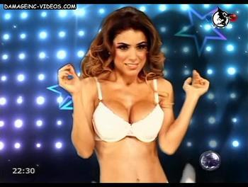 Argentina celebrity Marina Calabro in bra