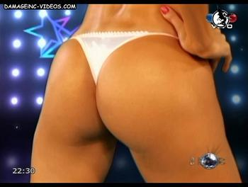 Brunette Marina Calabro perfect ass in thong